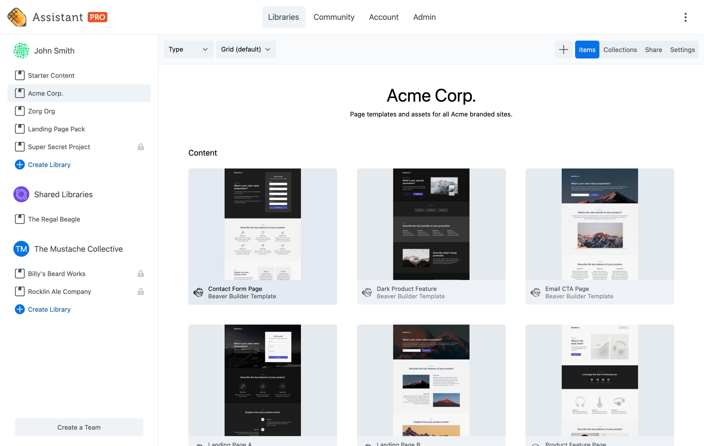pro-screenshot-library